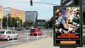 My Hero Academia on the Billboard