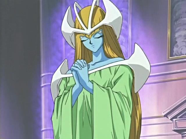 Mystical Elf praying in defense mode