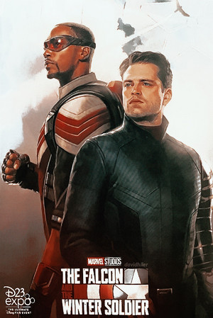 Official poster for The helang, falcon and The Winter Soldier at D23 (2019)