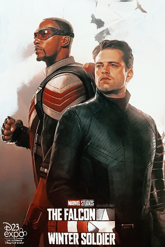 Official poster for The فالکن and The Winter Soldier at D23 (2019)