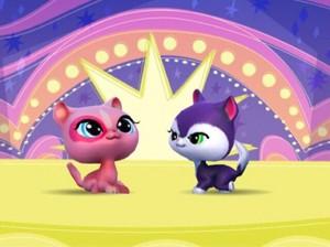 ピンク Kitty and Purple Kitty 2
