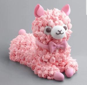 màu hồng, hồng loài đà mã ở nam mỹ, llama cake
