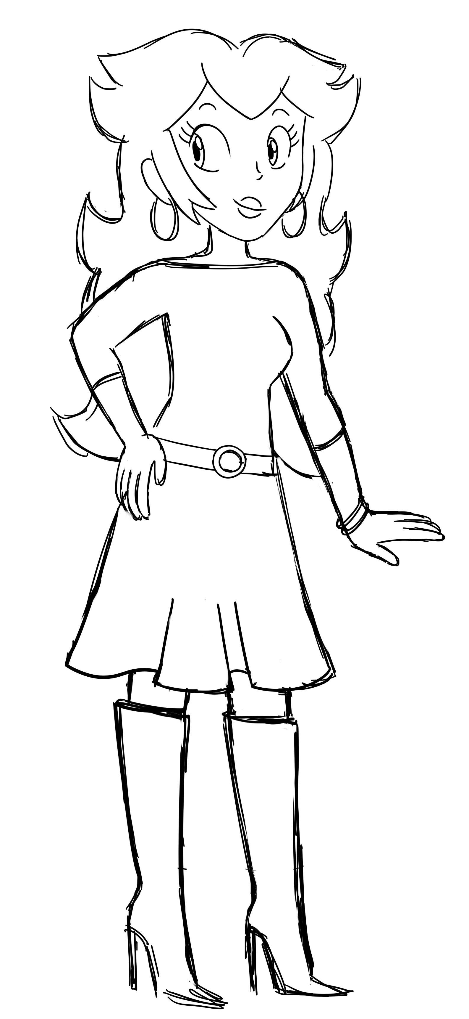Princess Peach - Ralph Lauren Style (Sketch)