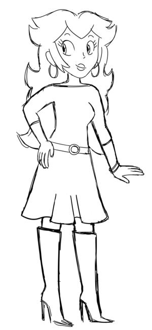 Princess pfirsich - Ralph Lauren Style (Sketch)