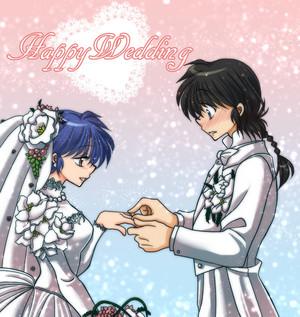 Ranma and Akane Wedding