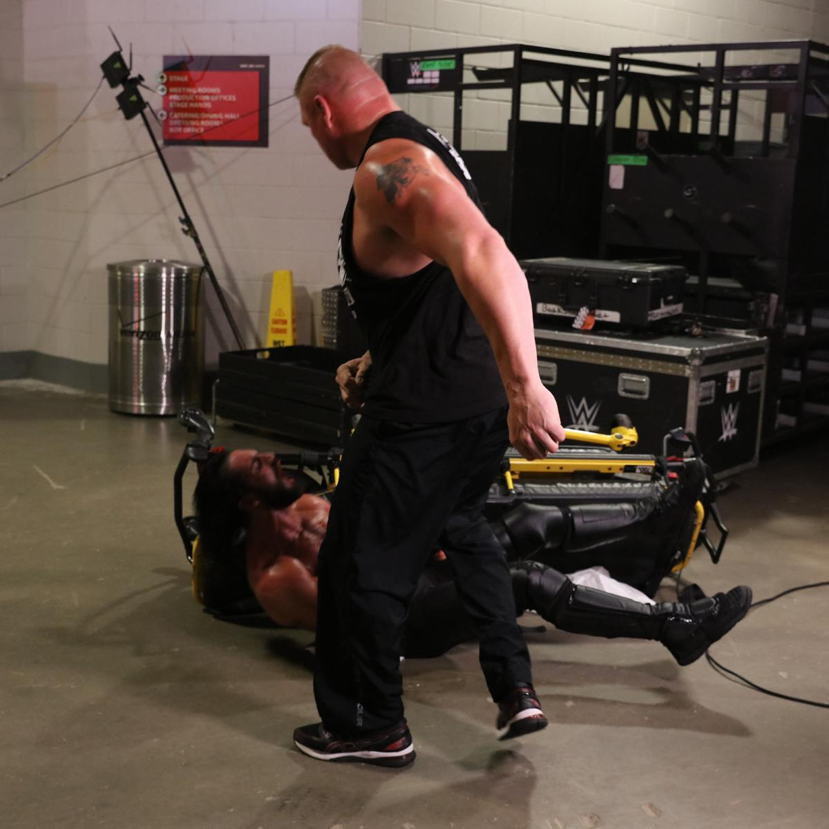 Raw 7/29/19 ~  Brock Lesnar assaults Seth Rollins