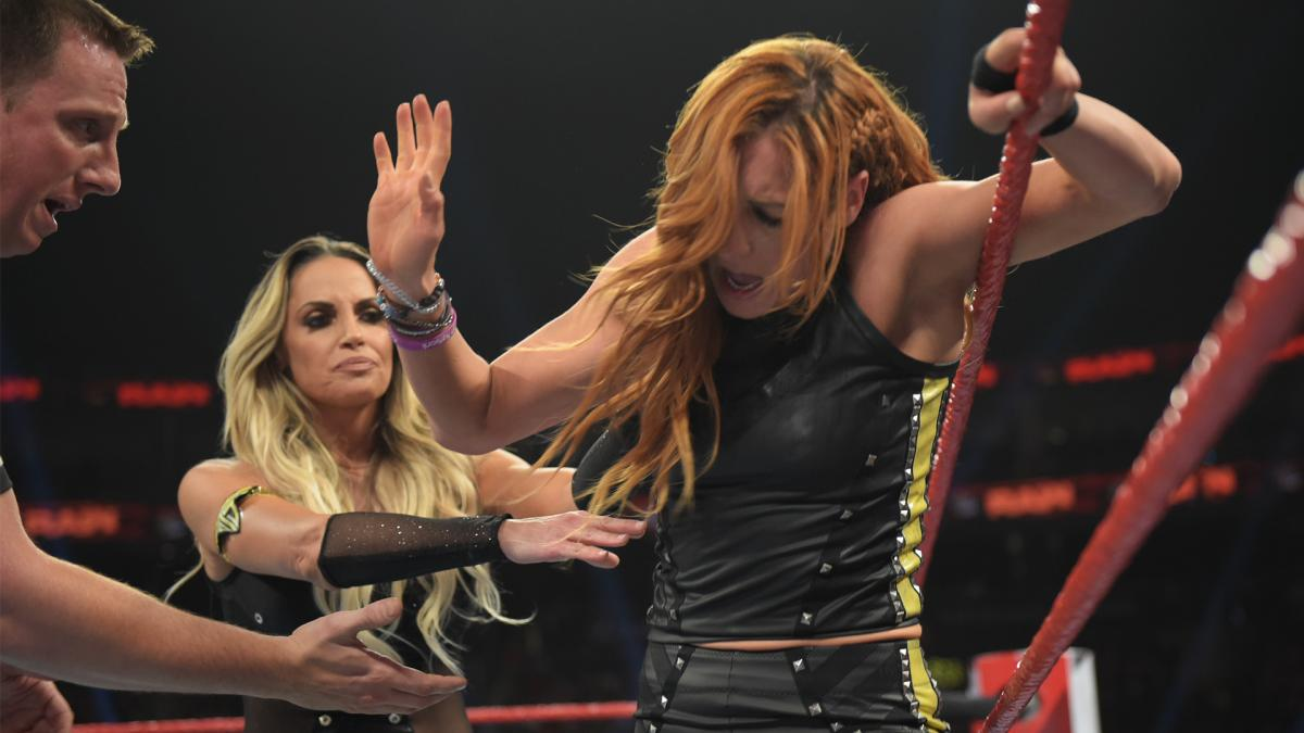 Raw 8/5/19 ~ Trish Stratus/Natalya vs Charlotte Flair/Becky Lynch