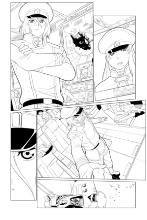 "Robotech:Remix issue two (November 13th. 2019), linedrawing sample ""A"" door Elmer Damaso (@iq40mail )"