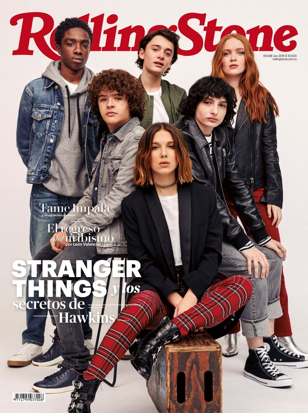Sadie Sink and the Stranger Things cast - Rolling Stone Columbia Cover - 2019