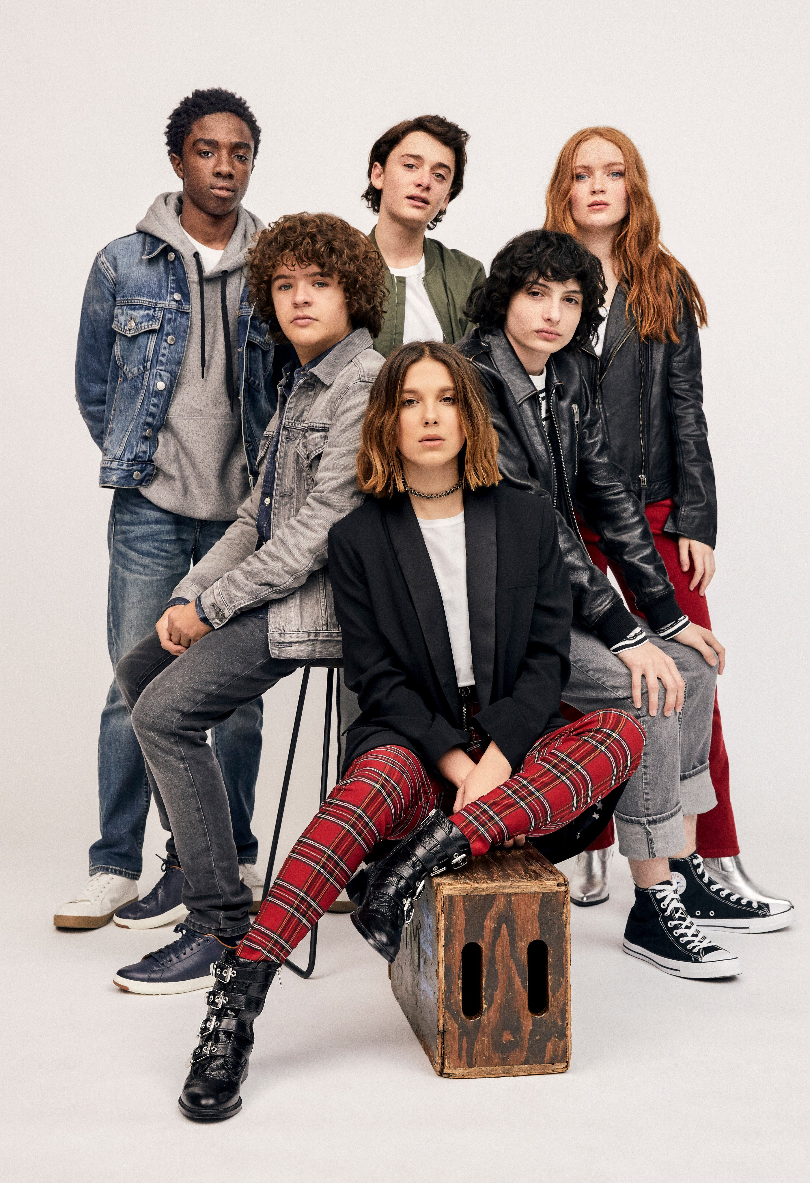 Sadie Sink and the Stranger Things cast - Rolling Stone Columbia Photoshoot - 2019