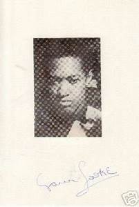 Sam Cooke autograph card