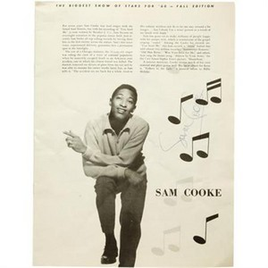 Sam Cooke autograph program