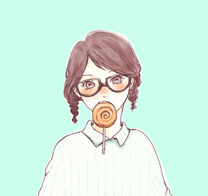 Sarada with lollipop