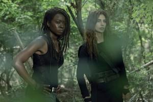 Season 10 Still ~ Michonne and Magna