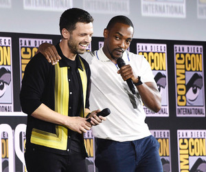 Sebastian Stan and Anthony Mackie -Marvel Studios Panel, 2019 San Diego Comic Con — July 20, 2019