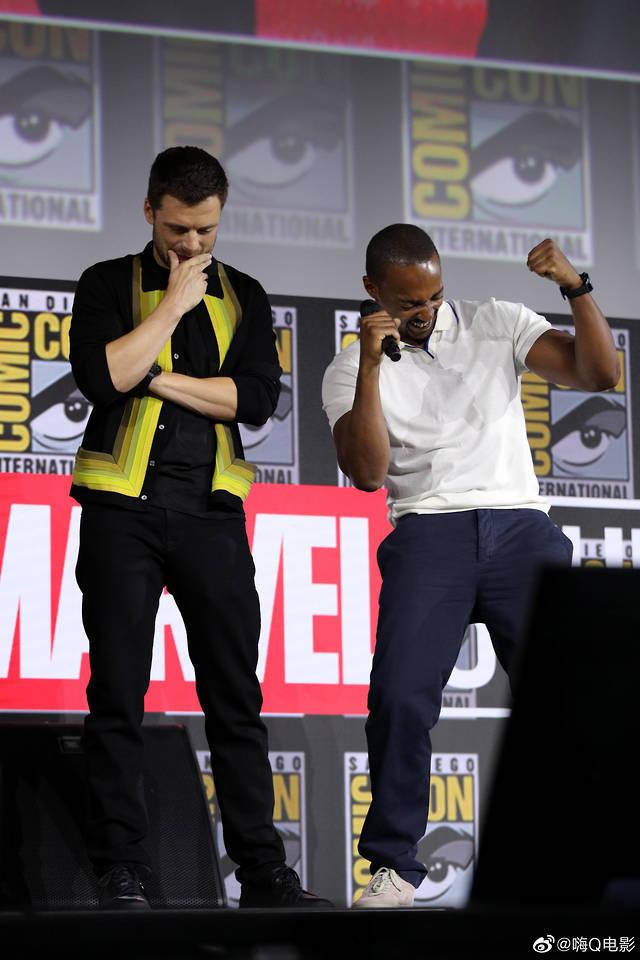 Sebastian Stan and Anthony Mackie -Marvel Studios Panel, 2019 San Diego Comic Con — July 20, 2019
