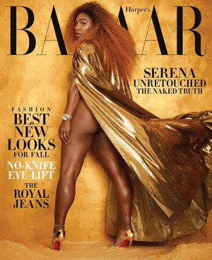Serena Williams on the August 2019 cover of Harper's Bazaar