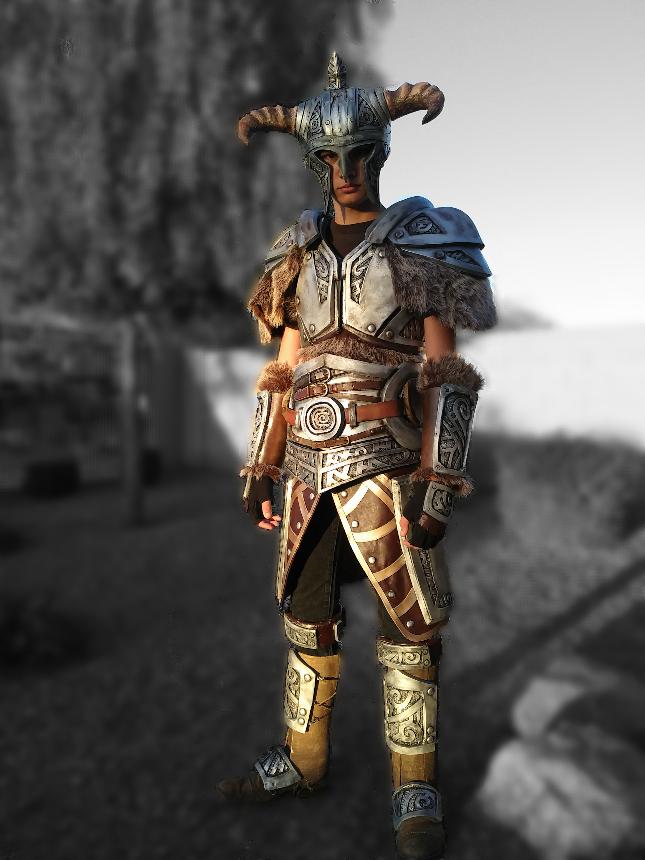 Skyrim steel armor cosplay