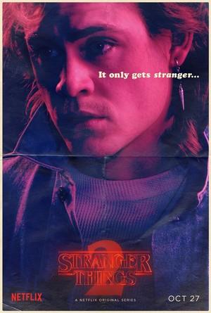 Stranger Things 2 - 'It Only Gets Stranger' Poster - Billy Hargrove