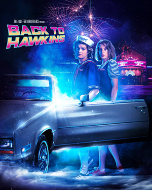Stranger Things 3 -Back to the Future' Inspired Poster - Back to Hawkins