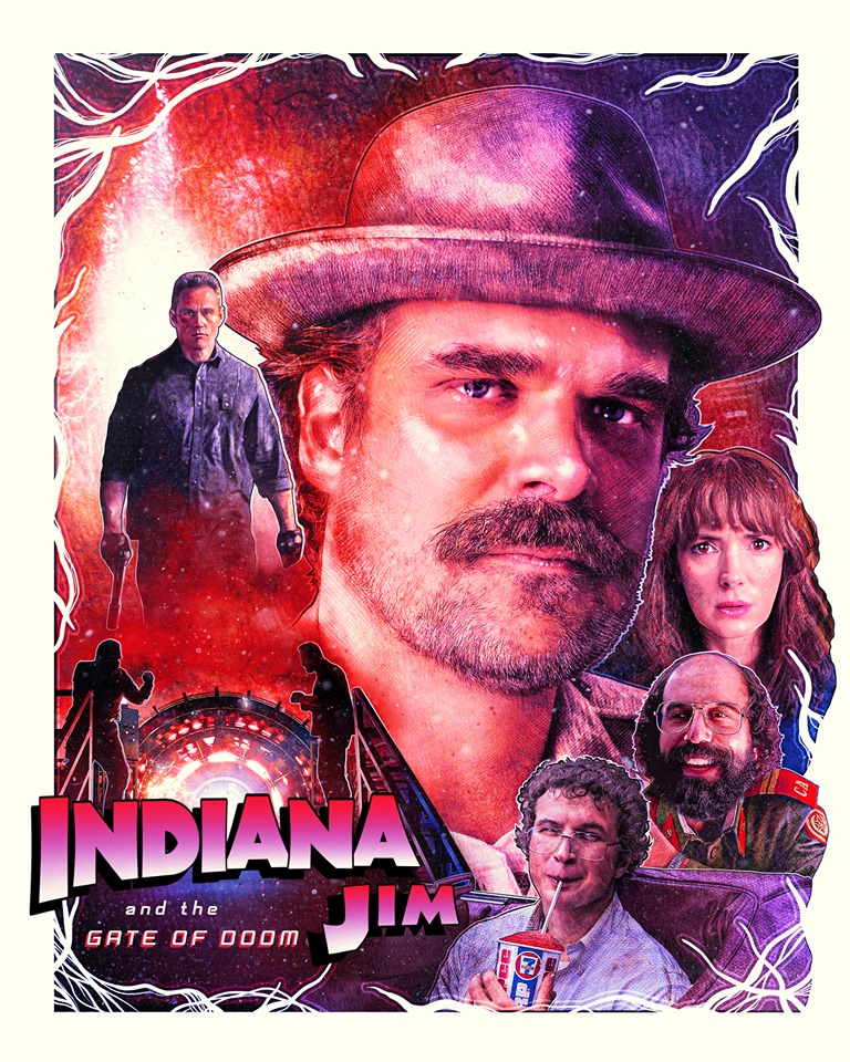 Stranger Things 3 - 'Indiana Jones' Inspired Poster - Indiana Jim and the Gate of Doom