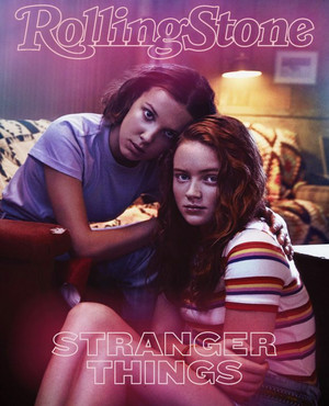 Stranger Things 3 Photoshoot - Rolling Stone Italy Cover - Millie Bobby Brown and Sadie Sink