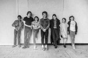 Stranger Things - Behind the Scenes - Caleb, Charlie, Finn, Joe, Natalia, Noah and Gaten