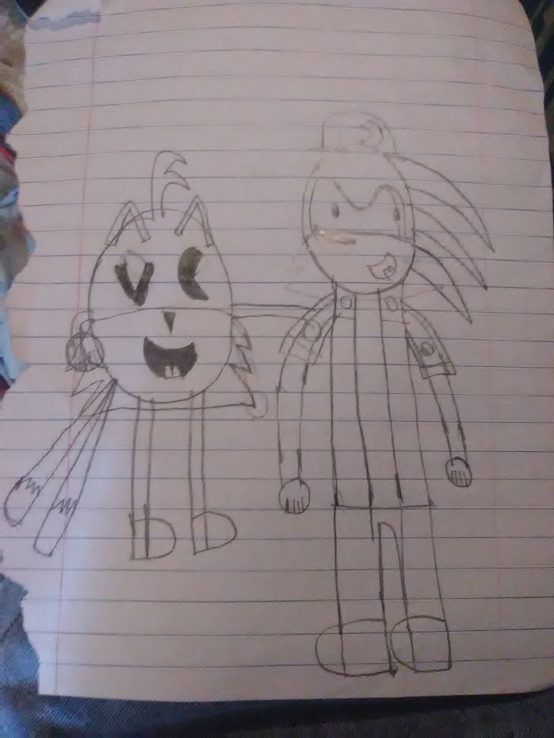 Tails (PAC-MAN) and Sonic (Klonoa)