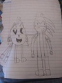 Tails (PAC-MAN) and Sonic (Klonoa) - drawing photo