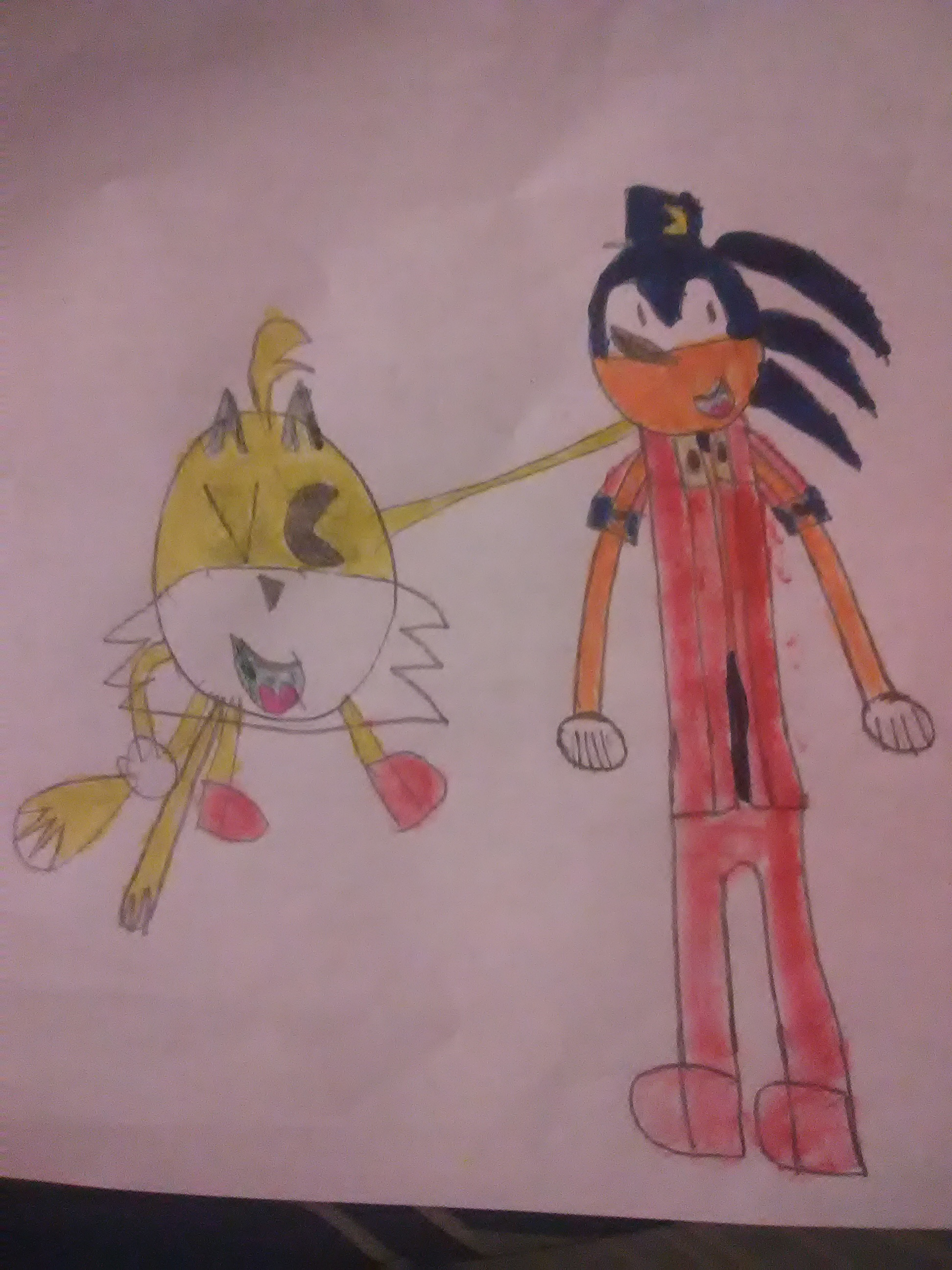 Tails as PAC-MAN and Sonic as Klonoa