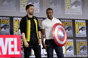The elang, falcon and The Winter Soldier -2019 Marvel Comic Con
