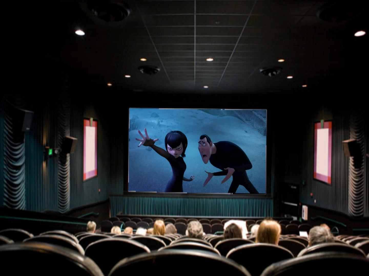 They Watching Hotel Transylvania 3 In The Movie Theater Hotel Transylvania Wallpaper 42949226 Fanpop