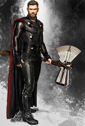 Thor in Avengers: Infinity War concept art by Ryan Meinerding
