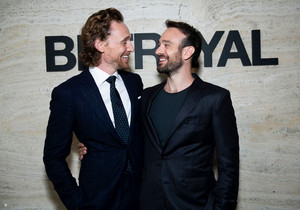 Tom Hiddleston and Charlie Cox attend the Opening Night Party for Betrayal Broadway September 5