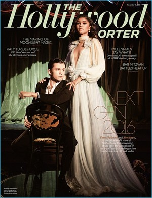 Tom Holland and Zendaya - The Hollywood Reporter Cover - 2016