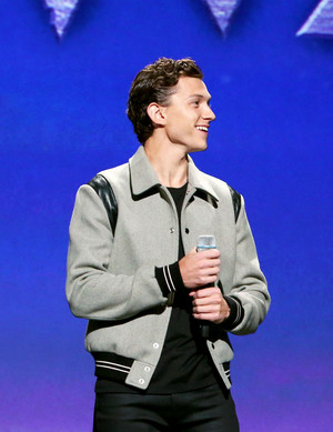 Tom Holland at the Disney D23 Expo presentation of 'Pixar's Onward' Anaheim, California