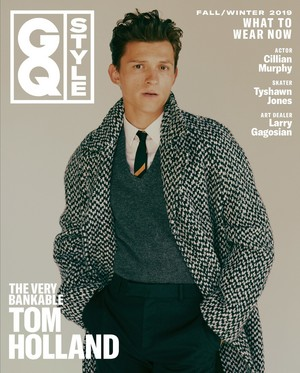 Tom Holland on the Fall 2019 cover of GQ Style