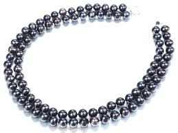 Two-Strand Black Pearl 목걸이