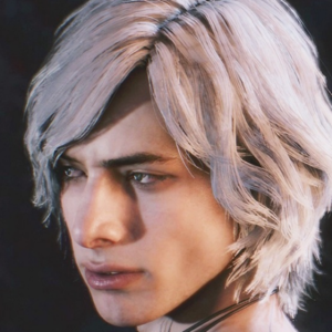 V white hair