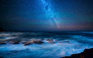 View of the Milky Way from great ocean road