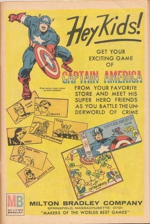 Vintage Ad - Captain America Boardgame - Milton Bradley (1966)