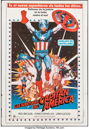 Vintage Poster - Las Adventures Del Capitan America - Captain America II - Death Too Soon (1979)