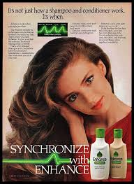 Vintage Promo Ad For Enhance Hair Products