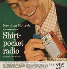 Vintage Promo Ad For Shirt-Pocket Radio