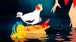Walt disney Screencaps – Flounder, Scuttle, Sebastian & Princess Ariel