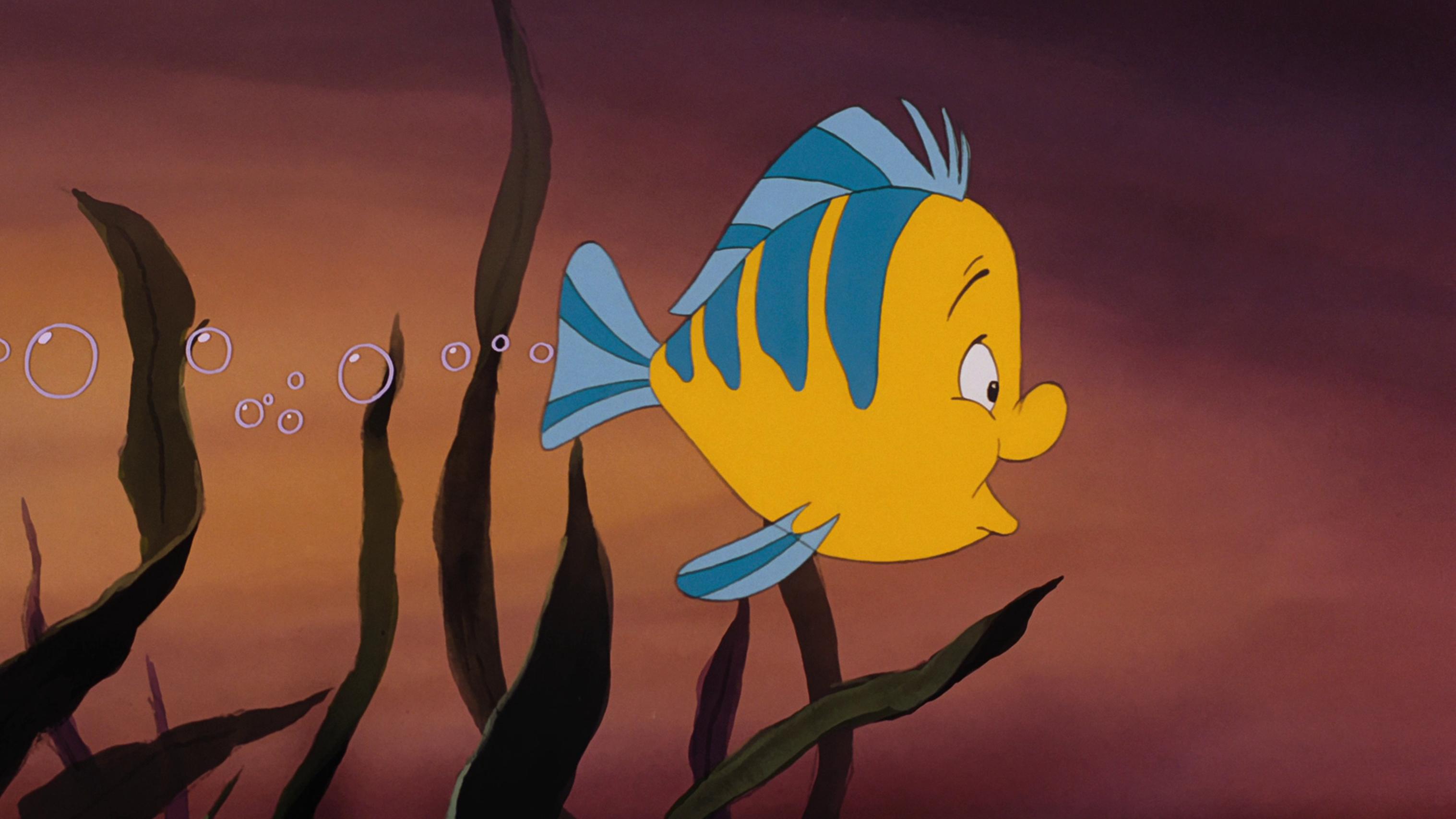 Walt Disney Screencaps – Flounder