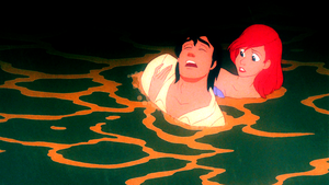 Walt 迪士尼 Screencaps – Prince Eric & Princess Ariel