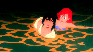 Walt 디즈니 Screencaps – Prince Eric & Princess Ariel
