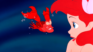 Walt Дисней Screencaps – Sebastian & Princess Ariel