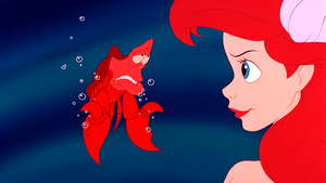 Walt ディズニー Screencaps – Sebastian & Princess Ariel
